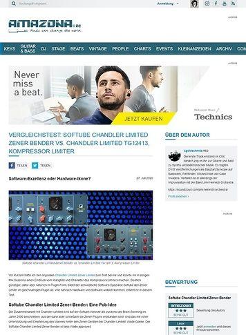 Amazona.de Vergleichstest: Softube Chandler Limited Zener Bender vs. Chandler Limited TG12413, Kompressor Limiter