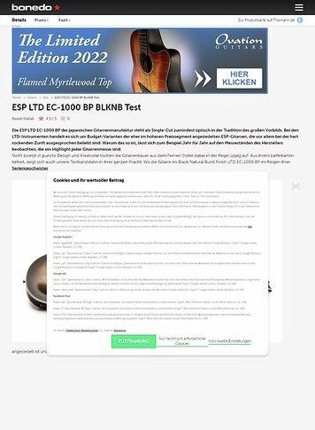 Bonedo.de ESP LTD EC-1000 BP BLKNB