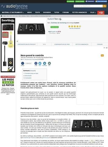 Audiofanzine.com Audient Nero