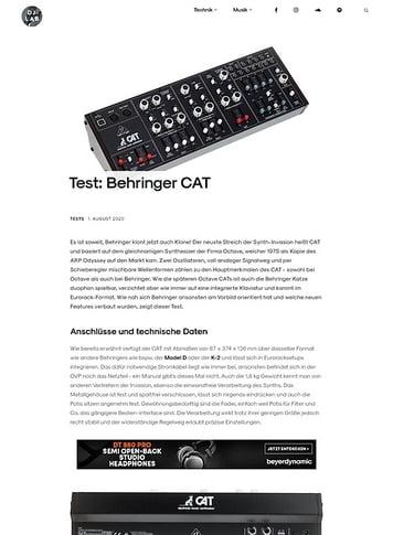 DJLAB Behringer CAT