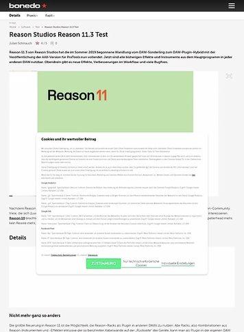 Bonedo.de Reason Studios Reason 11.3