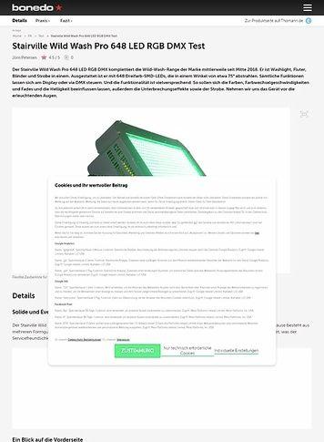 Bonedo.de Stairville Wild Wash Pro 648 LED RGB DMX