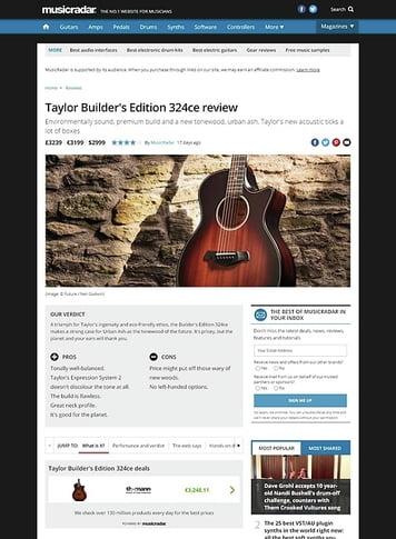 MusicRadar.com Taylor Builder's Edition 324ce