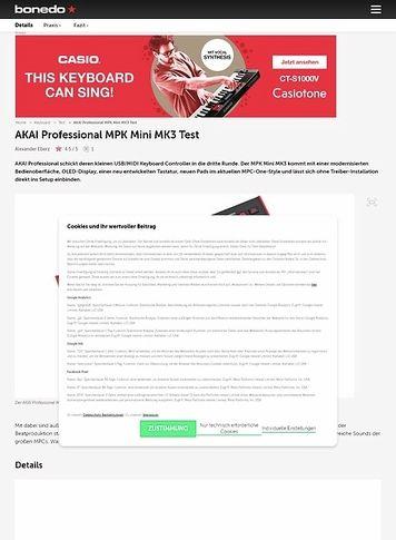 Bonedo.de AKAI Professional MPK Mini MK3