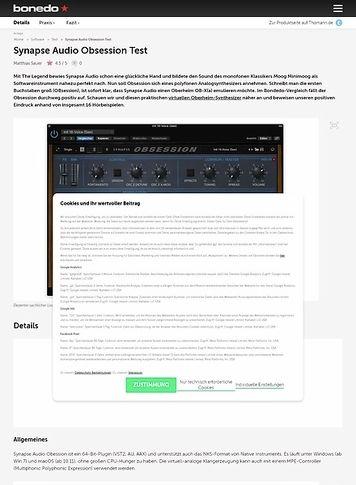 Bonedo.de Synapse Audio Obsession