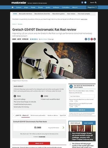 MusicRadar.com Gretsch G5410T Electromatic Rat Rod