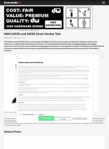 Bonedo.de K&M 14038 und 14036 Drum Hocker