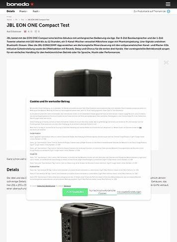 Bonedo.de JBL EON ONE Compact