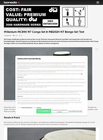 Bonedo.de Millenium MC890 NT Conga Set & MB202H NT Bongo Set