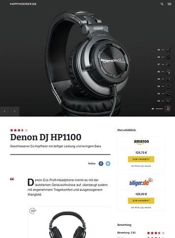 Kopfhoerer.de Denon DJ HP1100