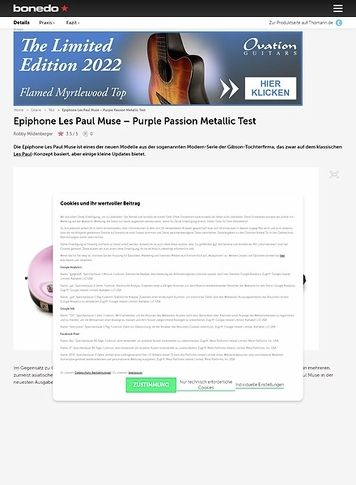 Bonedo.de Epiphone Les Paul Muse
