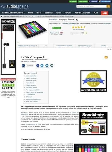 Audiofanzine.com Novation Launchpad Pro mk3
