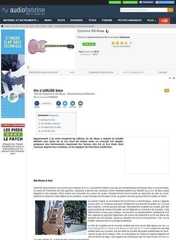 Audiofanzine.com Epiphone SG Muse