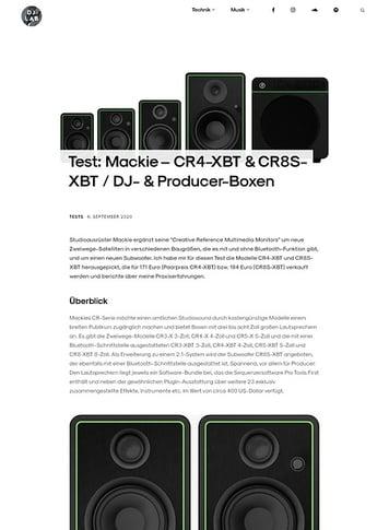 DJLAB Mackie – CR4-XBT & CR8S-XBT