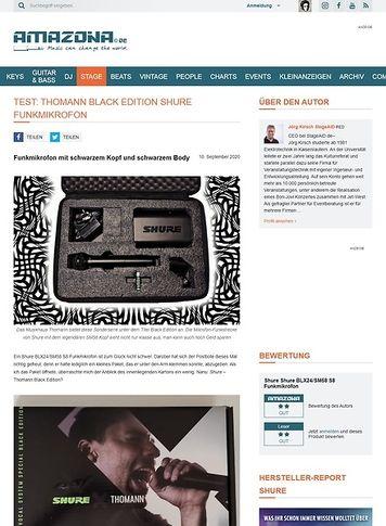 Amazona.de Thomann Black Edition Shure Funkmikrofon