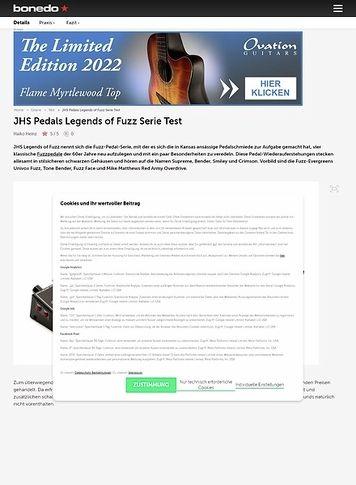 Bonedo.de JHS Legends of Fuzz Serie