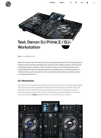 DJLAB Denon DJ Prime 2