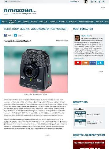 Amazona.de Zoom Q2n-4K