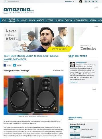 Amazona.de Behringer Media 40 USB
