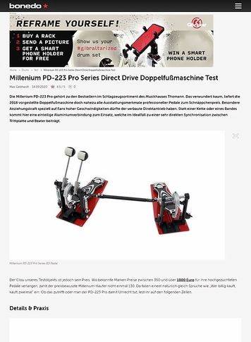 Bonedo.de Millenium PD-223 Pro Series Direct Drive