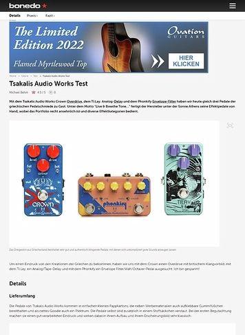 Bonedo.de Tsakalis Audio Works