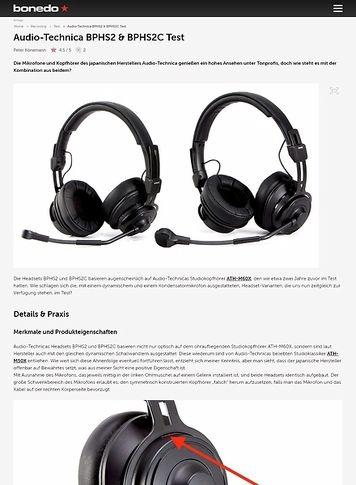 Bonedo.de Audio-Technica BPHS2 & BPHS2C