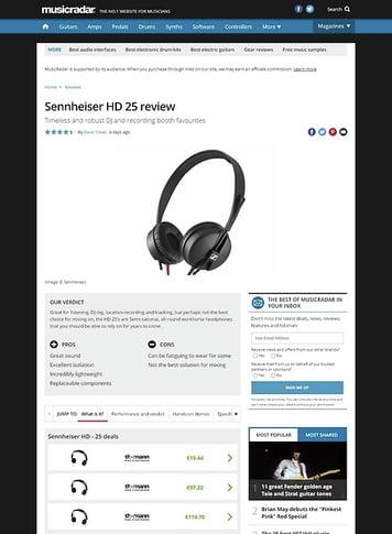 MusicRadar.com Sennheiser HD 25 review