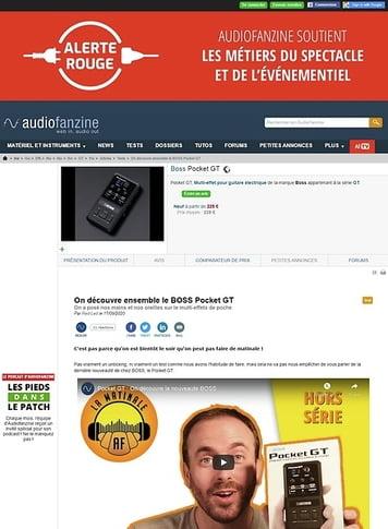 Audiofanzine.com Boss Pocket GT