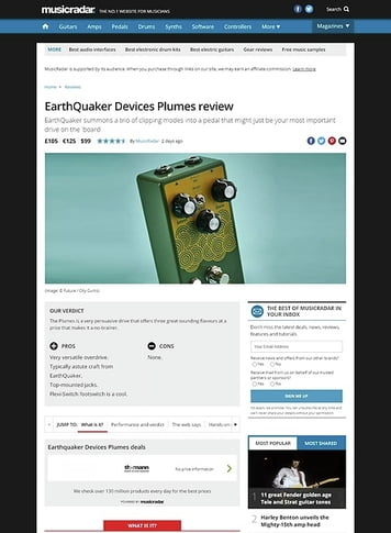 MusicRadar.com EarthQuaker Devices Plumes