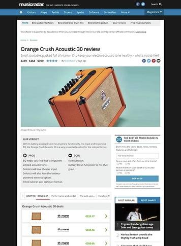 MusicRadar.com Orange Crush Acoustic 30