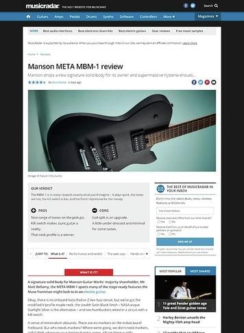 MusicRadar.com Manson META MBM-1