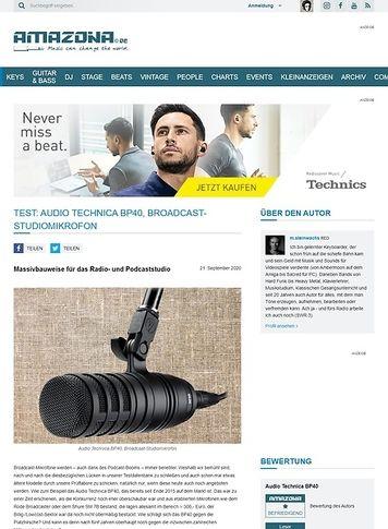 Amazona.de Audio Technica BP40