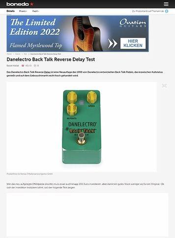 Bonedo.de Danelectro Back Talk Reverse Delay