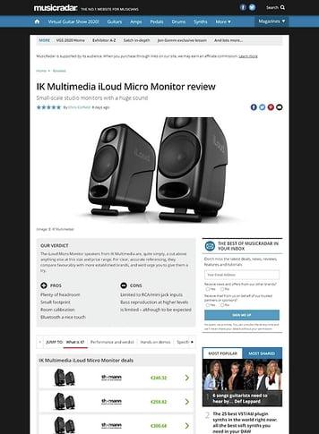 MusicRadar.com IK Multimedia iLoud Micro Monitor