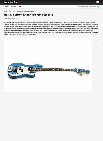 Bonedo.de Harley Benton Enhanced MP-5EB