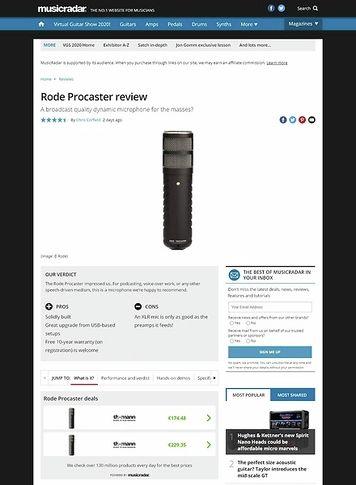 MusicRadar.com Rode Procaster review