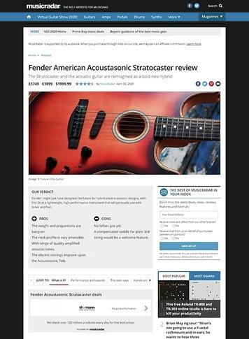 MusicRadar.com Fender American Acoustasonic Stratocaster