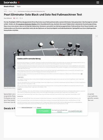 Bonedo.de Pearl Eliminator Solo Black und Solo Red Fußmaschinen