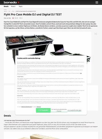 Bonedo.de Flyht Pro Case Mobile DJ und Digital DJ