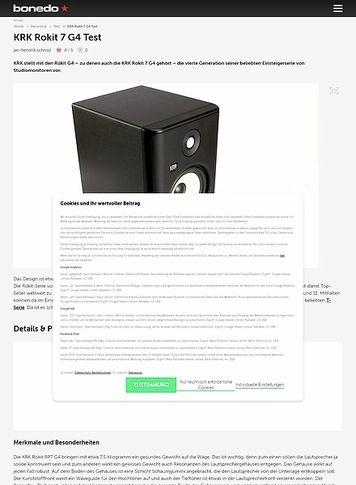Bonedo.de KRK Rokit 7 G4