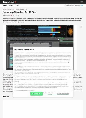Bonedo.de Steinberg WaveLab Pro 10