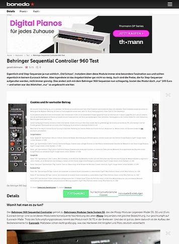 Bonedo.de Behringer Sequential Controller 960
