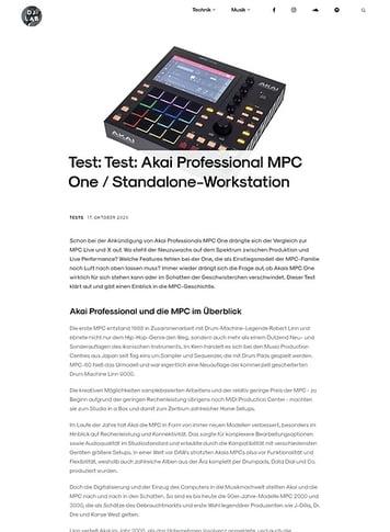 DJLAB AKAI Professional MPC One