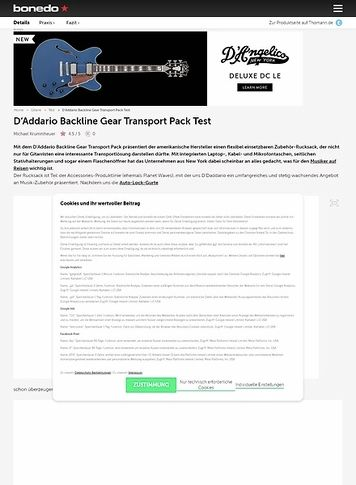 Bonedo.de Daddario Equipment Backline Backpack