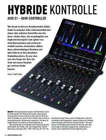 Sound & Recording Avid S1