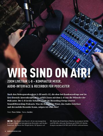 Sound & Recording Zoom LiveTrak L-8