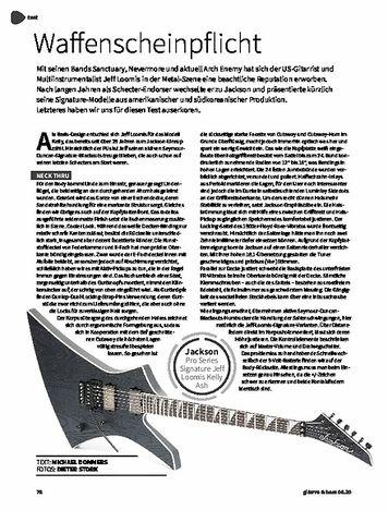 Gitarre & Bass Jackson Pro Series Signature Jeff Loomis Kelly Ash