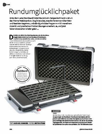 Gitarre & Bass RockBoard MOD4 XVive U2 Wireless Modul, Cinque 5.2 Pedalboard, ABS Case & LED Light