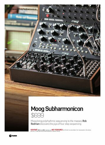 Future Music Moog Subharmonicon
