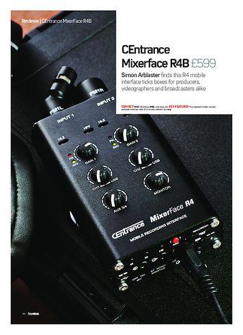 Future Music Centrance Mixerface R4B